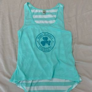 Key West tank Irish Kevin's size xl teal/white